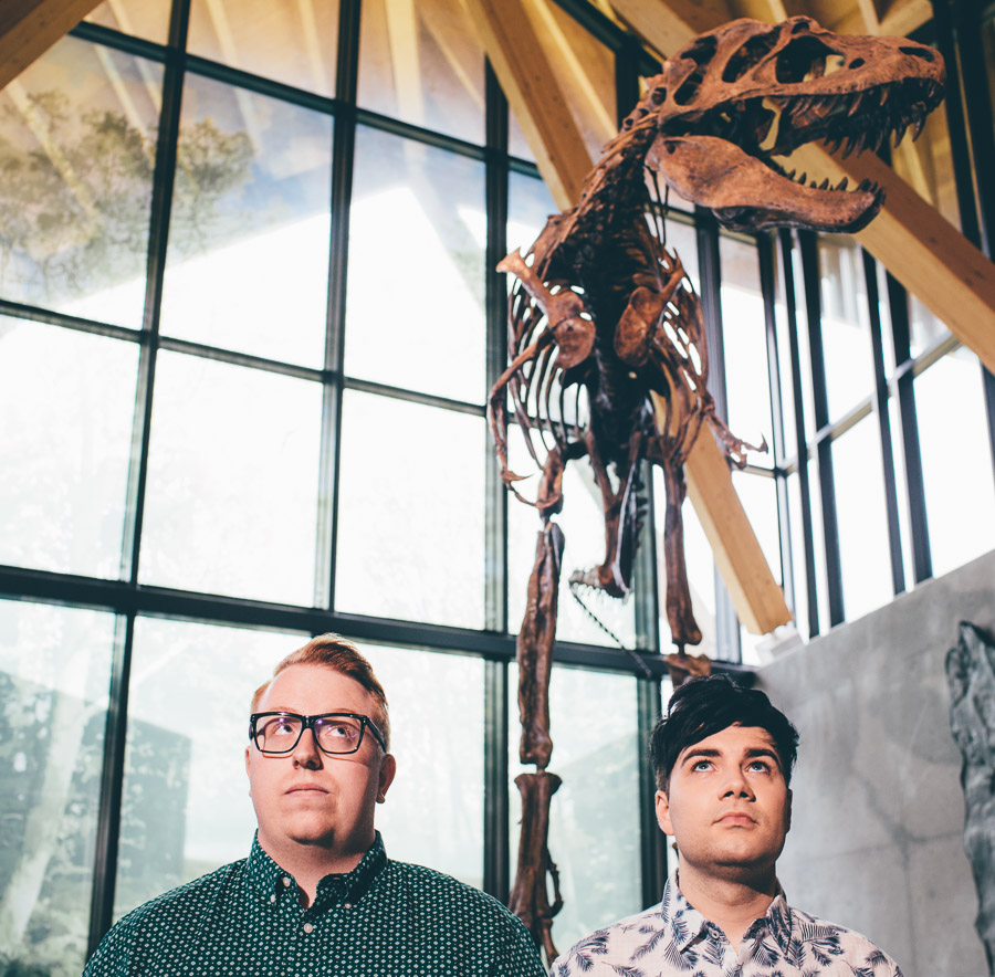 Lloyd + Eric at the Currie Dino Museum!